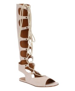 Chlo Suede Gladiator Leather Beige Sandals