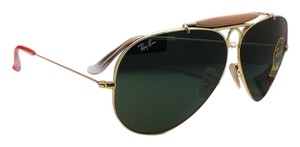Ray-Ban Ray-Ban Sunglasses RB 3138 SHOOTER 001 58-09 Gold Aviator w/G15 Green
