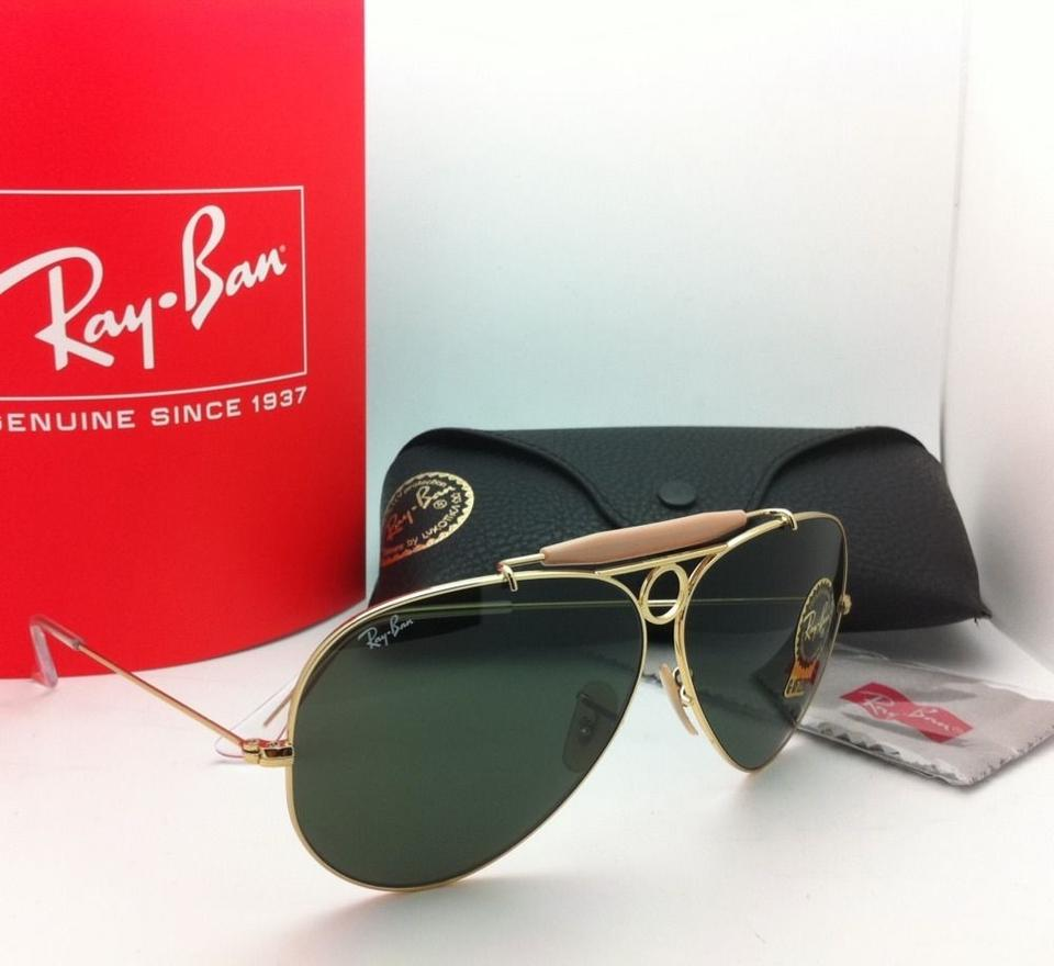ffc38e8d7583e Ray-Ban Rb 3138 Shooter 001 58-09 Arista Gold W  Crystal Green Lenses  Aviator W G15 Sunglasses - Tradesy