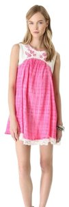 Free People short dress Hot pink Crinkle Gauze Summer on Tradesy