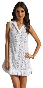 Nanette Lepore short dress white Swim Coverup Eyelet Cotton on Tradesy