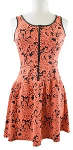 Potter's Pot short dress Coral/Black on Tradesy