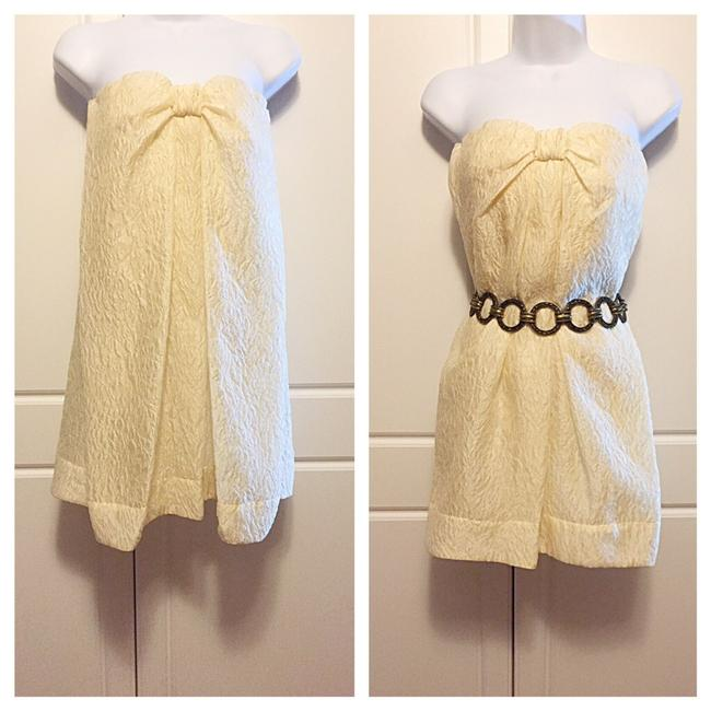 Item - Cream Above Knee Night Out Dress Size 0 (XS)