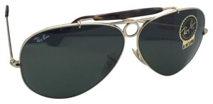 Ray-Ban RAY-BAN Sunglasses RB 3138 SHOOTER 181 62-09 Gold & Havana w/G15 Green
