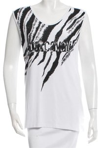 Just Cavalli Animal Print Print Top White, Black