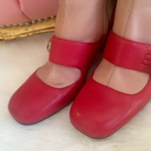 Prada Red/nude Boots
