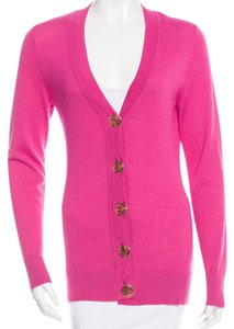 Tory Burch Longsleeve Embellished Wool Cardigan