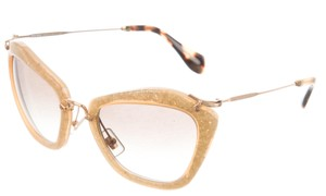 Miu Miu Gold-tone glitter resin Miu Miu cat-eye sunglasses