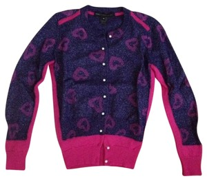 Marc by Marc Jacobs Cardigan Heart Wool Metallic Sweater