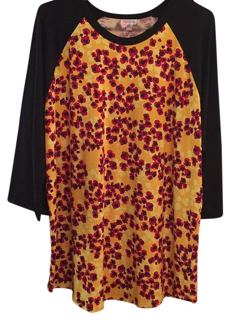 Item - Black Sleeves with Yellow and Red Body. Randy Blouse Size 26 (Plus 3x)