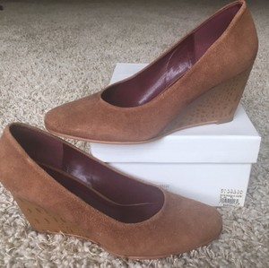 Barneys New York Tan Wedges