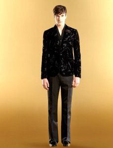Gucci Men's Runway Velvet Floral Dandy Evening Jacket Eu 52/ Us 42 298635