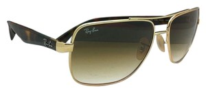 Ray-Ban New Ray-Ban Sunglasses RB 3483 001/51 60-16 Gold w/ Brown gradient