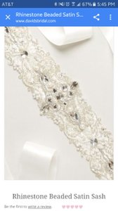 David's Bridal Rhinestone Beaded Sash