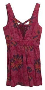 Free People short dress Magenta on Tradesy