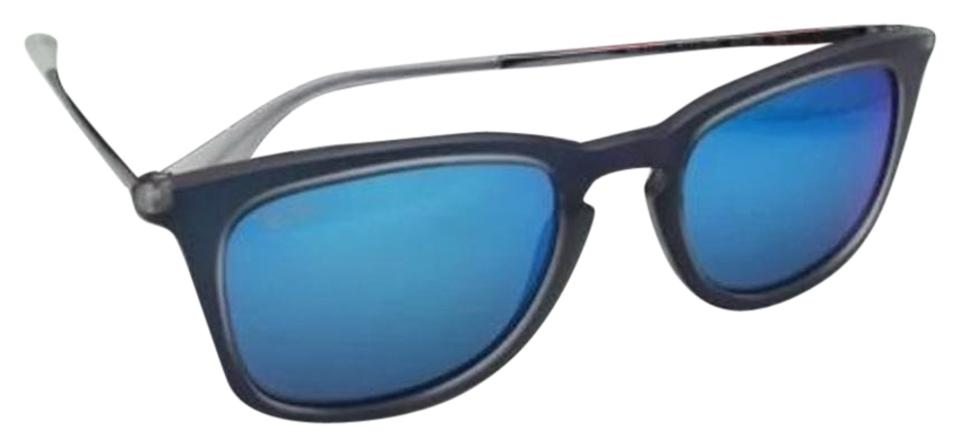 b01f8a73e3 Ray-Ban Rb 4221 6170 55 50-19 Shot Blue Rubber Frame New 6170 55 W ...
