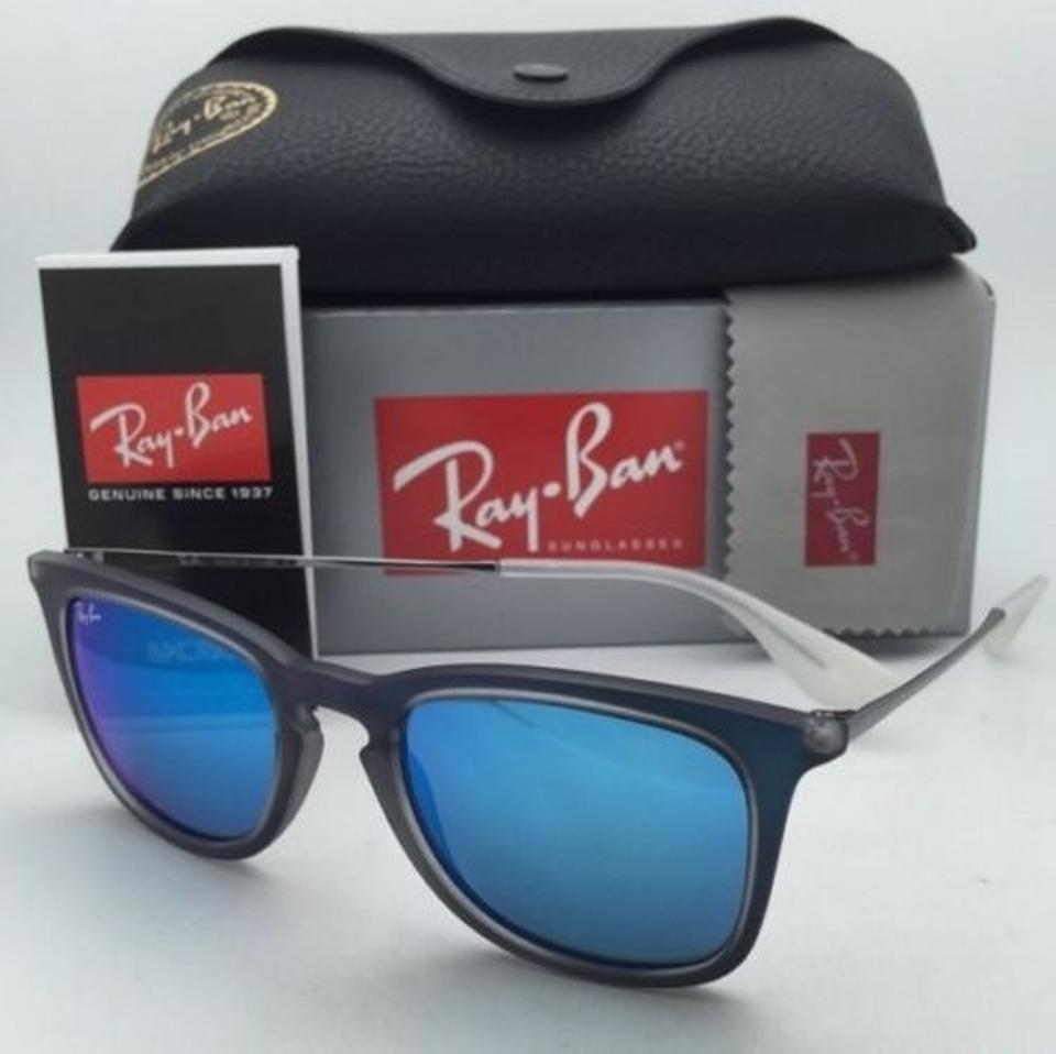 c4e1754434 Ray-Ban Rb 4221 6170 55 50-19 Shot Blue Rubber Frame New 6170 55 W ...