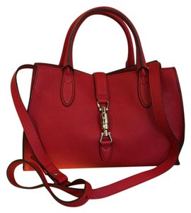 Gucci Satchel in Hibiscus Red