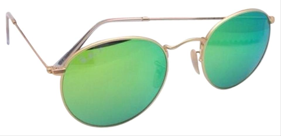 216dbce5d41 Ray-Ban Polarized Ray-Ban Sunglasses ROUND METAL RB 3447 112 P9 Gold ...