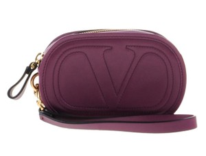 Valentino V Clutch Mini Rockstud Wristlet in Purple