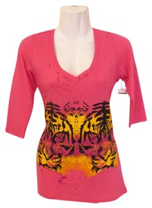 Hybrid Apparel New Tigers T Shirt pink