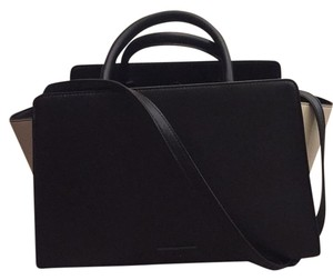 Zac Posen Satchel in Black Cream