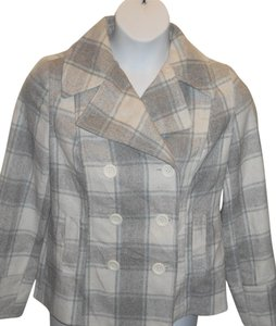 Old Navy Plaid Plaid Pea Coat