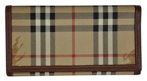 Burberry Burberry Horseferry Check Coated Canvas Brand New Wallet
