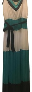 White, green, blue Maxi Dress by Milly collection for Banana Republic