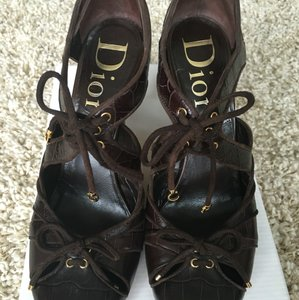 Dior Christian Womens Deco Brown Pumps