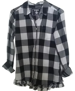 Victoria's Secret Button Down Shirt black, white