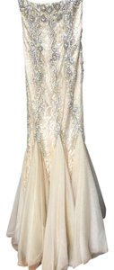 Jovani Beaded Strapless Fitted Dress