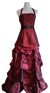 Bill Levkoff Ball Gown Halter Full Length Classic Dress