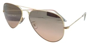 Ray-Ban Ray-Ban Sunglasses RB 3025 Large Metal 001/3E 55-14 Gold w/Brown pink
