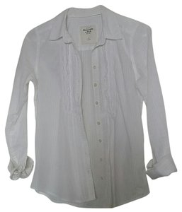 Abercrombie & Fitch Button Down Shirt white