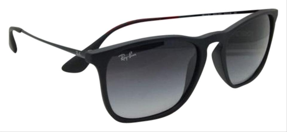Ray-Ban Rb 4187 622 8g 54-18 Rubber Black W  Grey Gradient Lenses ... 69934dd0cbf