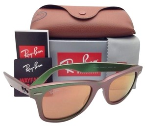 Ray-Ban Ray-Ban Sunglasses RB 2140 6109/Z2 50-22 WAYFARER Metallic Green Frame
