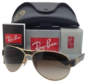 Ray-Ban New Ray-Ban Sunglasses RB 3509 001/13 63-15 Gold & Havana w/Brown
