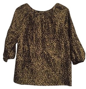 Talbots Top Black and gold