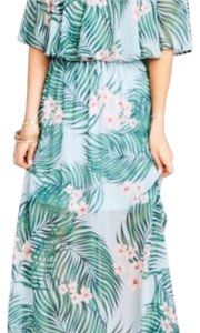 Green, white, pink floral Maxi Dress by Show Me Your Mumu