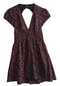 Free People short dress rose combo Floral Mini Red on Tradesy