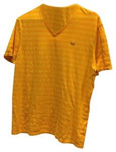 Mens Lacoste T Shirt Yellow