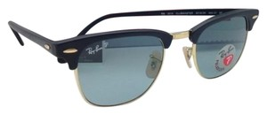 Ray-Ban Polarized CLUBMASTER Ray-Ban Sunglasses RB 3016 901S/3R Black & Gold