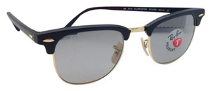 Ray-Ban Polarized CLUBMASTER Ray-Ban Sunglasses RB 3016 901S/P2 Black & Gold