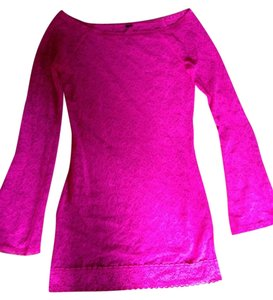 Victoria's Secret Contrast Lace At Hem Tunic