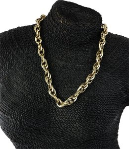 Accessory Necklace Gold Tone 925 Italy Chain Necklace.
