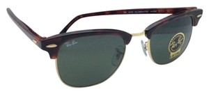 Ray-Ban CLUBMASTER Ray-Ban Sunglasses RB 3016 W0366 49-21 Tortoise/Gold Frame