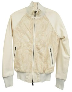 Giorgio Brato White Leather Jacket
