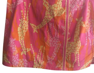 Lilly Pulitzer Mini Skirt Pink, yellow, orange