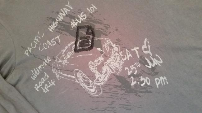 Report Collection black label Mens Mens Long Sleeve T Route 66 Pacific Coast Highway Us 101 Car Vintage T Shirt Gray